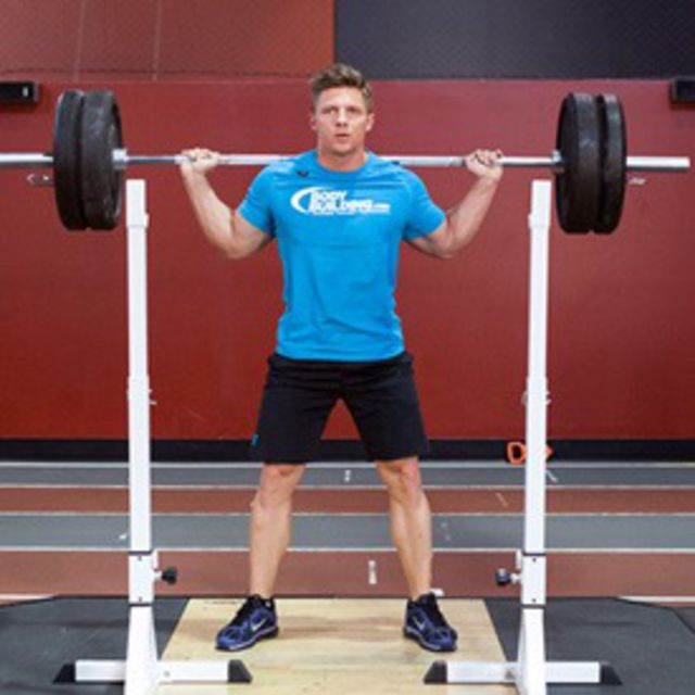 How to do: Standing Barbell Squats - Step 1