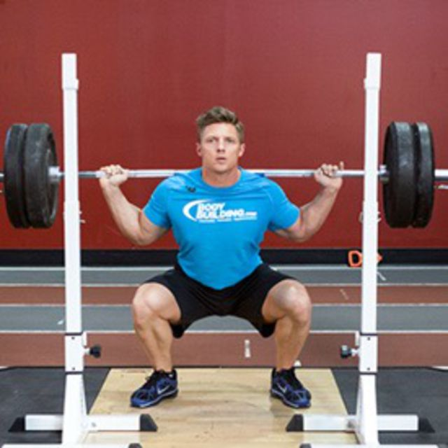 How to do: Standing Barbell Squats - Step 2