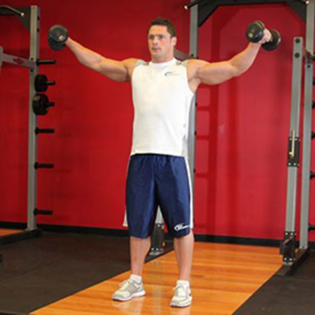 How to do: Lateral Raises (Dumbbell) - Step 2