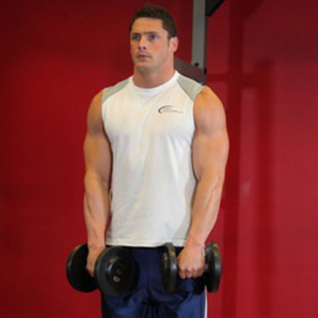 How to do: Upright Rows (Dumbbell) - Step 1