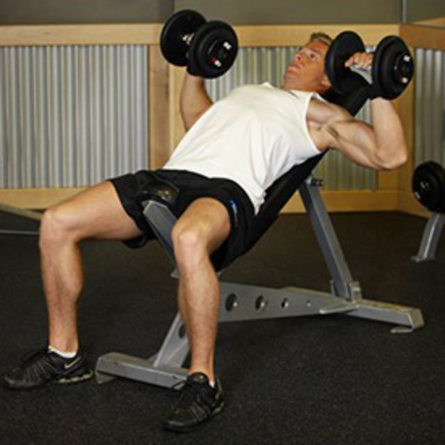 How to do: Incline Press (Dumbbell) - Step 1