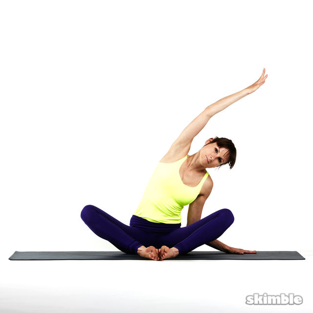 How to do: Seated Side Stretches - Step 3