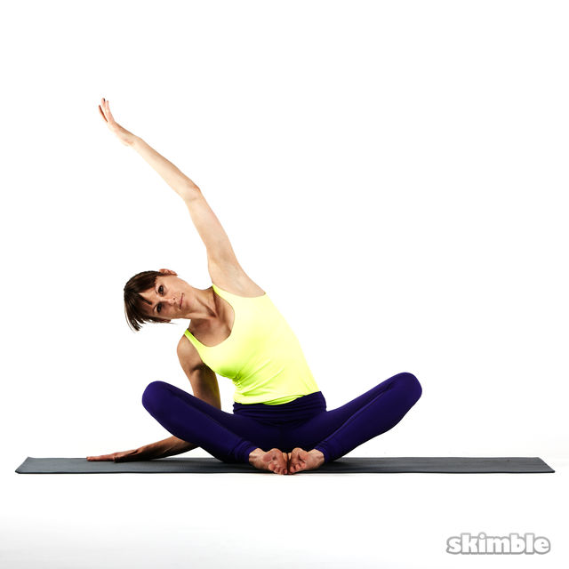 How to do: Seated Side Stretches - Step 6