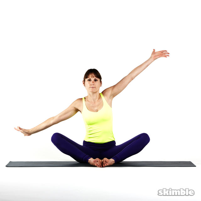 How to do: Seated Side Stretches - Step 5