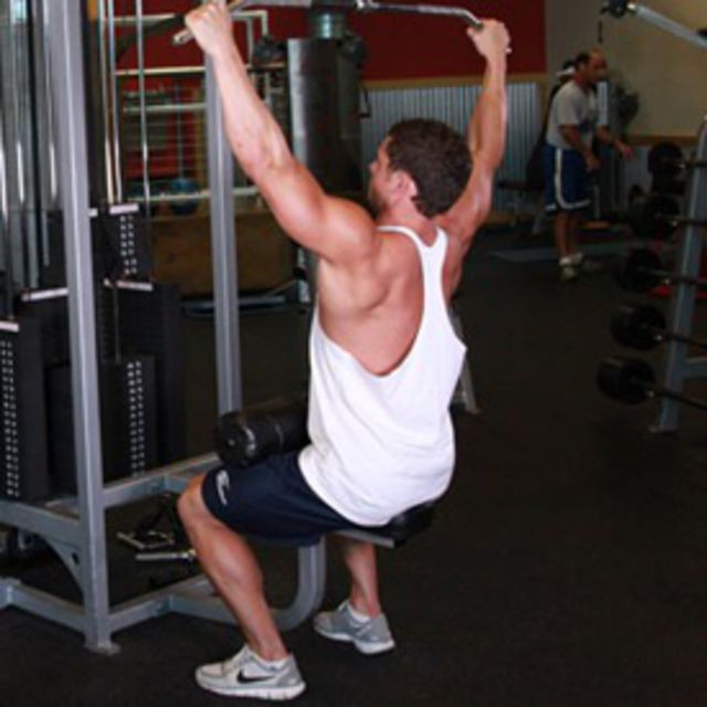 How to do: Widegrip Lateral Pulldown - Step 1