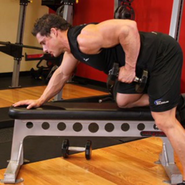 How to do: One Arm Dumbbell Rows (Left) - Step 2