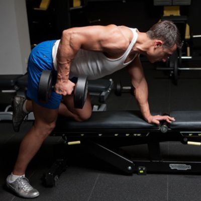 One Arm Dumbbell Rows (Right)