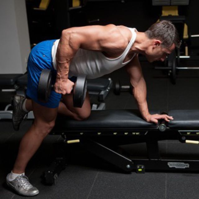 How to do: One Arm Dumbbell Rows (Right) - Step 2