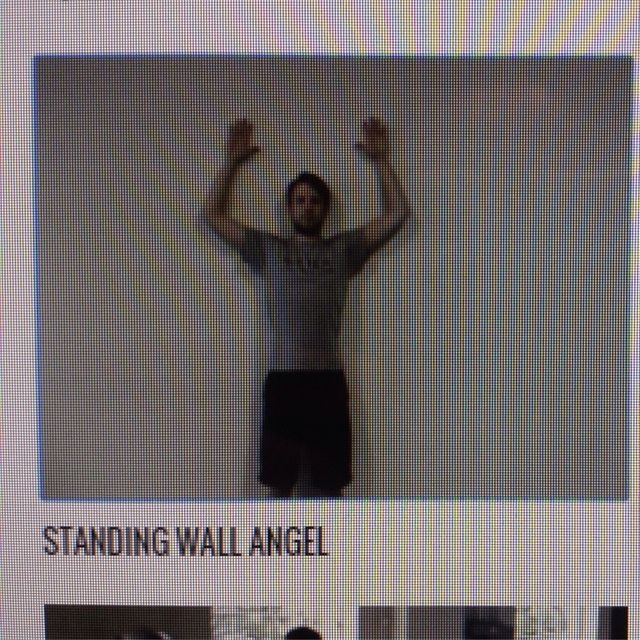 How to do: Standing Wall Angel - Step 1