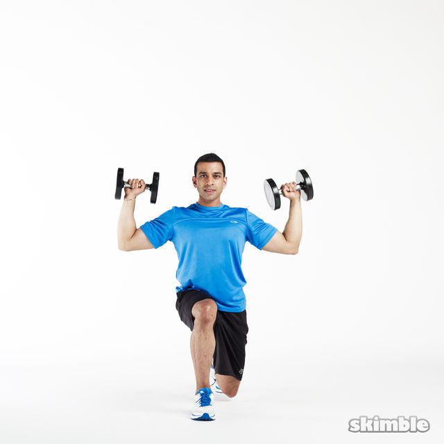 How to do: Lunge to Shoulder Press - Step 7