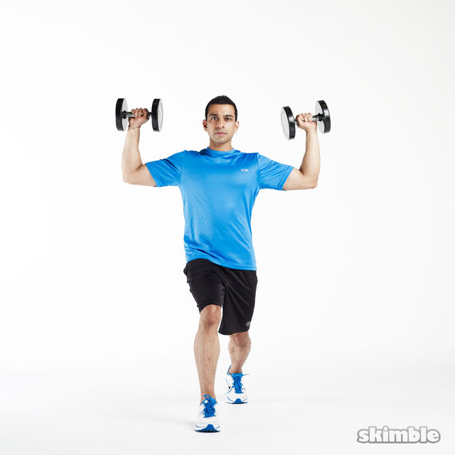 How to do: Lunge to Shoulder Press - Step 6