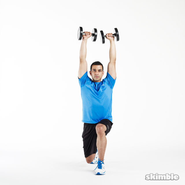 How to do: Lunge to Shoulder Press - Step 4