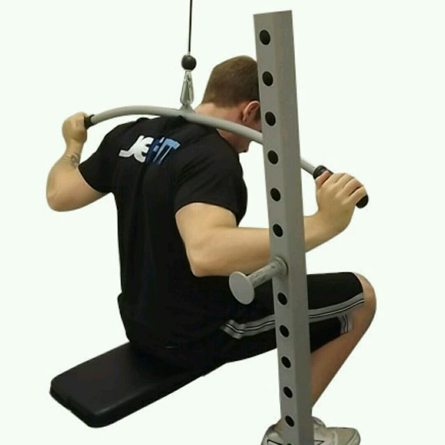 How to do: Reverse Lateral Pull Downs - Step 1