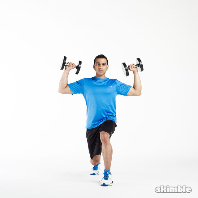 How to do: Lunge to Shoulder Press - Step 2