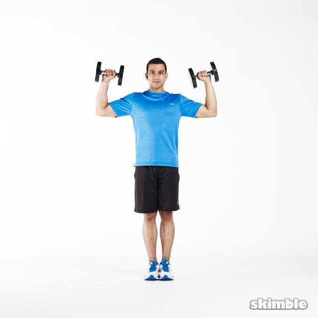 How to do: Lunge to Shoulder Press - Step 5