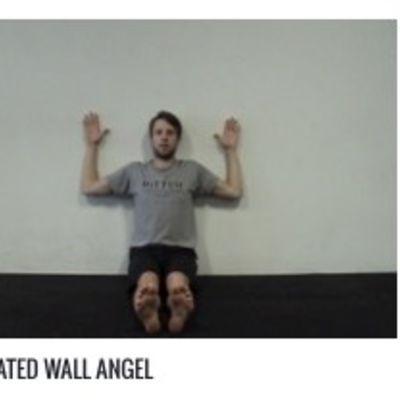 Seated Wall Angel