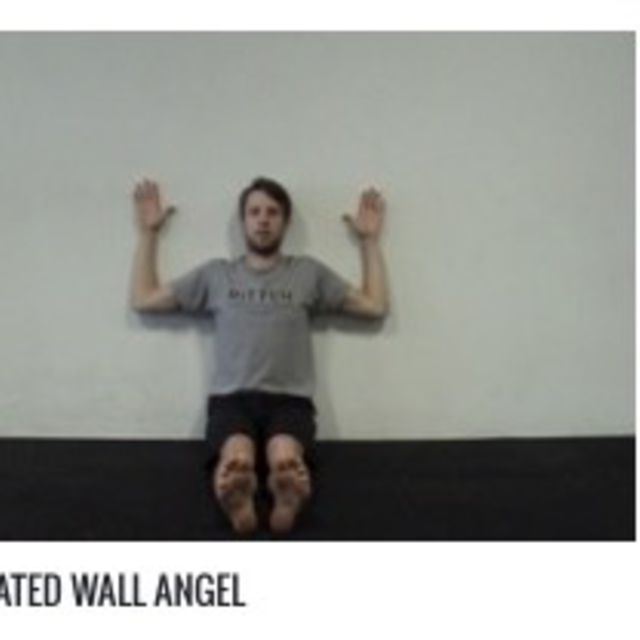 How to do: Seated Wall Angel - Step 1