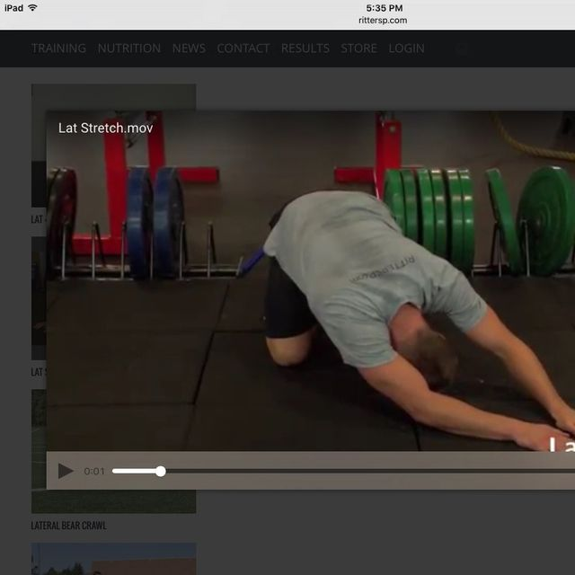How to do: Lat Stretch - Step 1