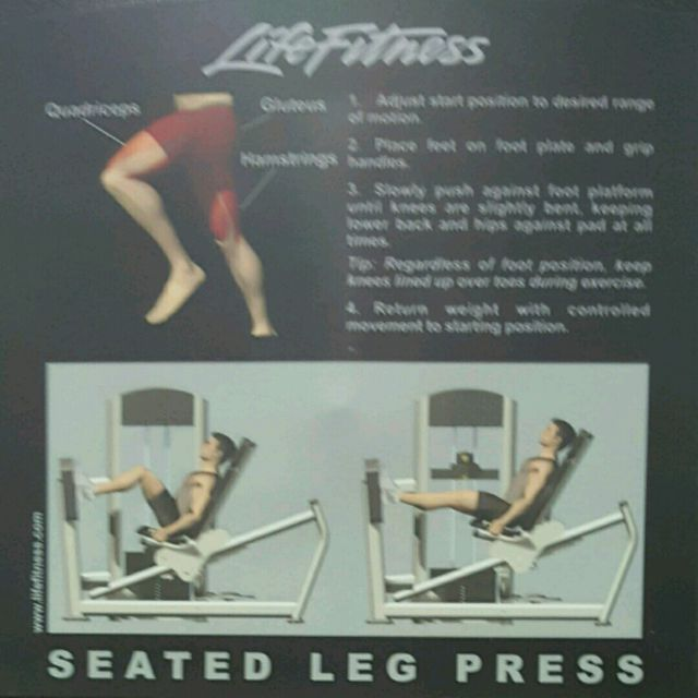 How to do: Seated Leg Press - Step 2