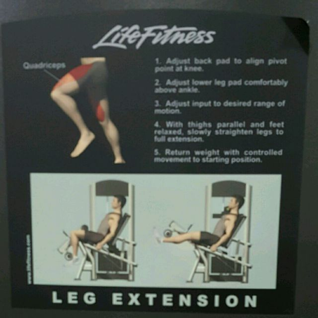 How to do: Leg Extension - Step 2