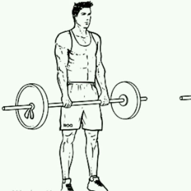 How to do: Barbell Shoulder Shrug - Step 1
