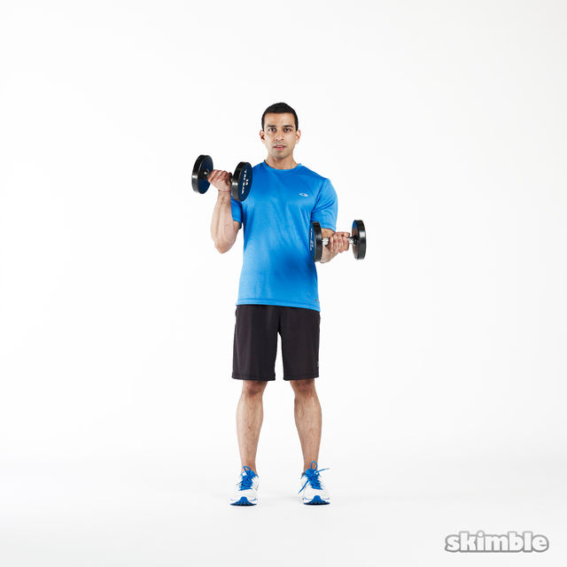 How to do: Isometric Bicep Curls - Step 4