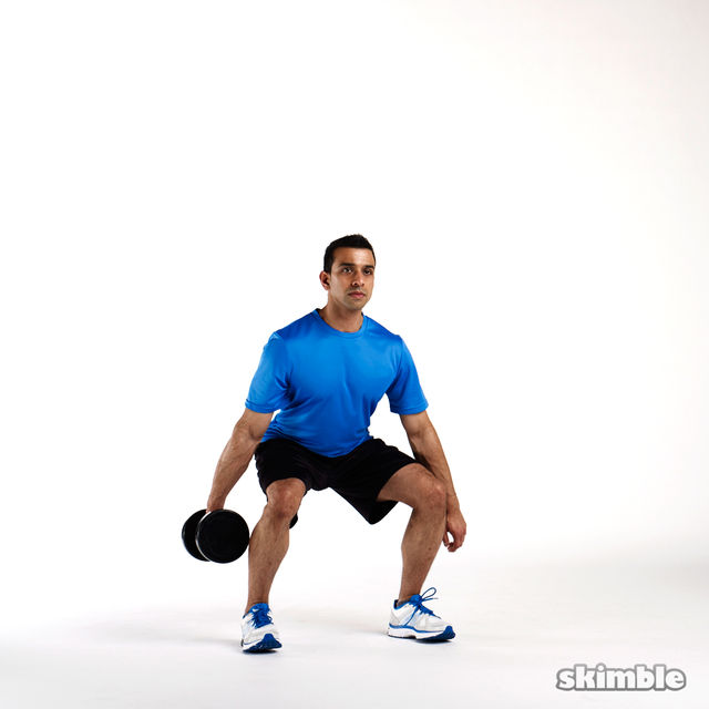 How to do: Suitcase Squats - Step 2