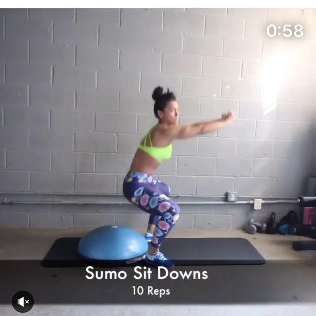 How to do: Bosu Sumo Squat - Step 1