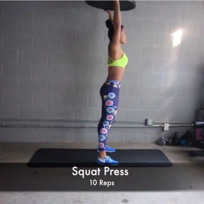 Bosu Squat Press