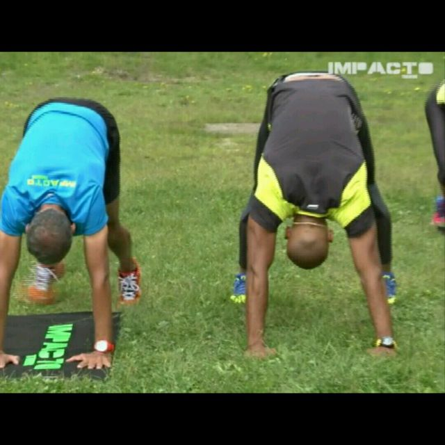 How to do: Isometric Downward Facing Dog - Step 1