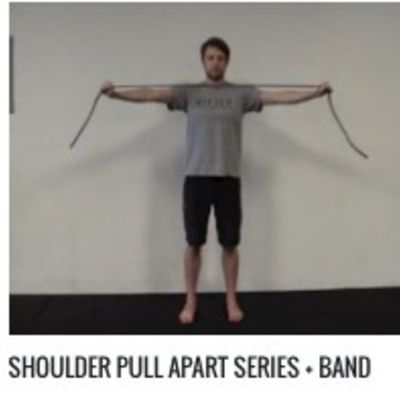 Shoulder Pull Apart Series W/Medium Band