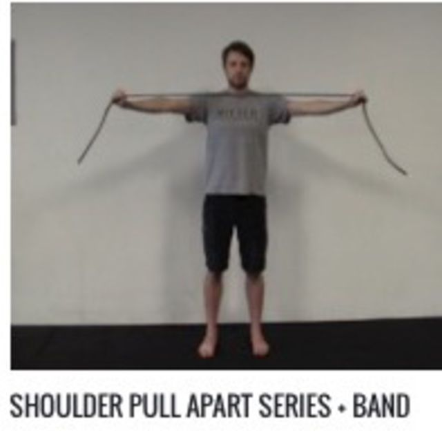 How to do: Shoulder Pull Apart Series W/Medium Band - Step 1