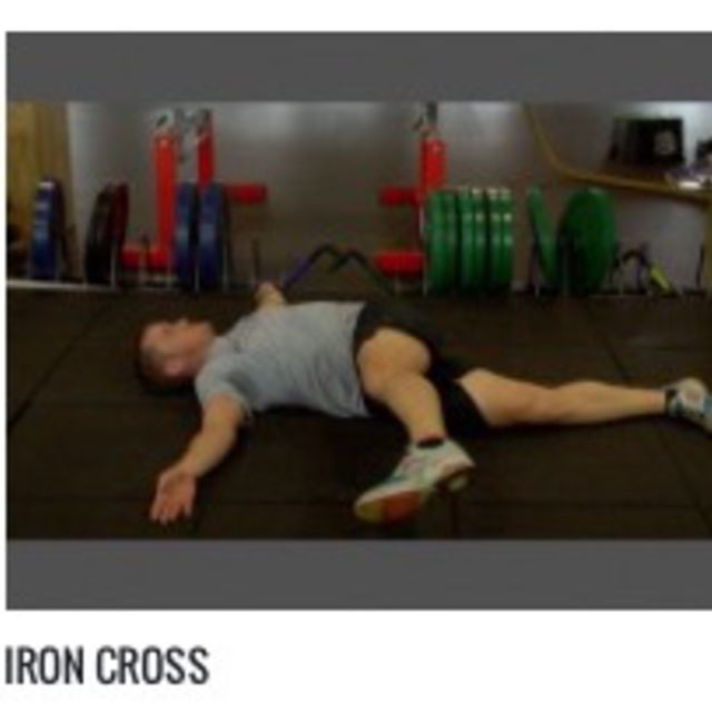 How to do: Iron Cross - Step 1