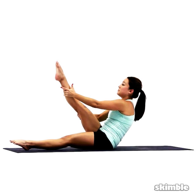 How to do: Pilates Right Leg Climbs - Step 2