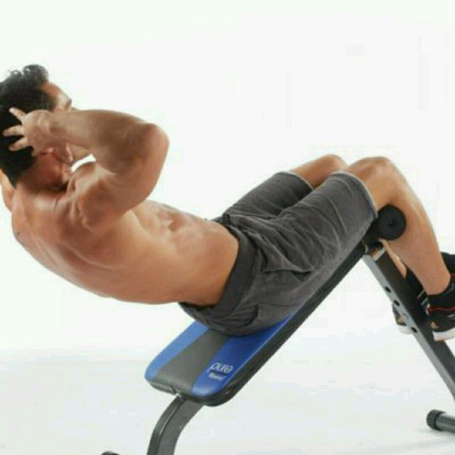 How to do: Inclined Bench Sit-Up - Step 1