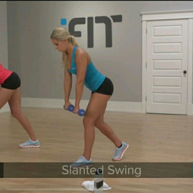 How to do: Slanted Swing - Step 1