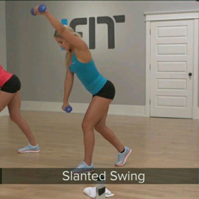 How to do: Slanted Swing - Step 2