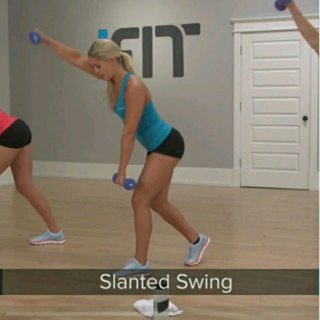 How to do: Slanted Swing - Step 4