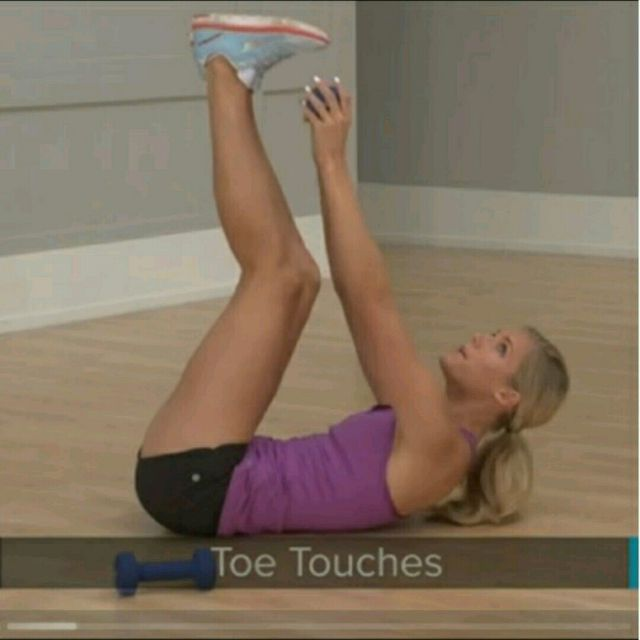 How to do: Toe Touches - Step 2