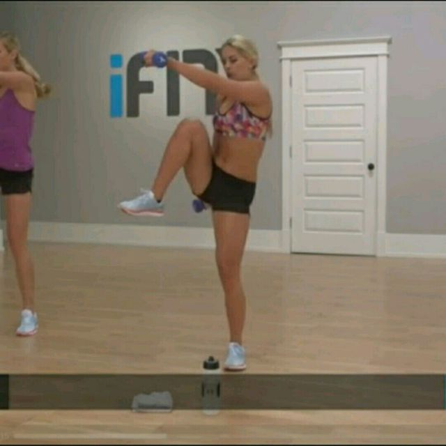 How to do: Squat Twist Plus Punch - Step 4