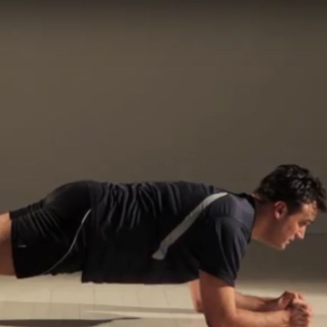 How to do: Plank Alternating Leg Lift - Step 1