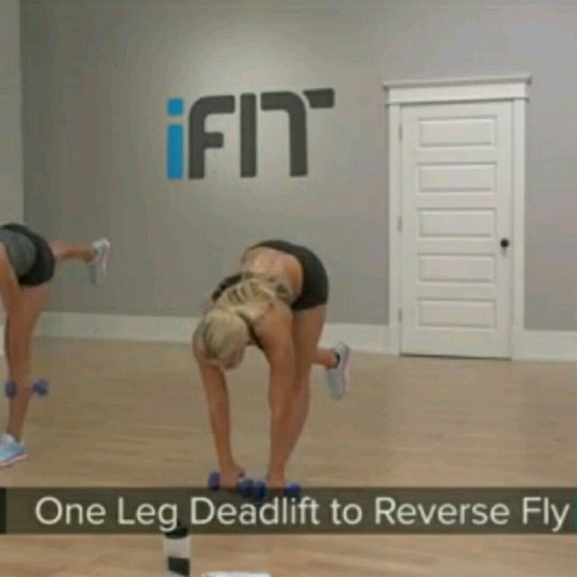 How to do: One Leg Deadlift To Reverse Fly - Step 3
