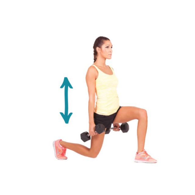 How to do: Weighted Static Lunge - Step 1