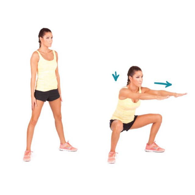 How to do: Sumo Squats - Step 1
