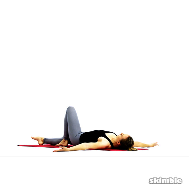 How to do: Lying Spinal Twist - Step 7