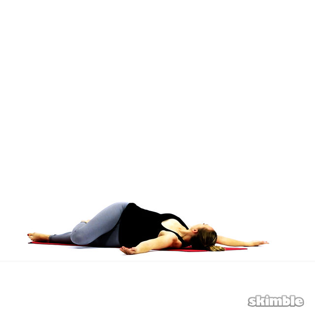 How to do: Lying Spinal Twist - Step 4