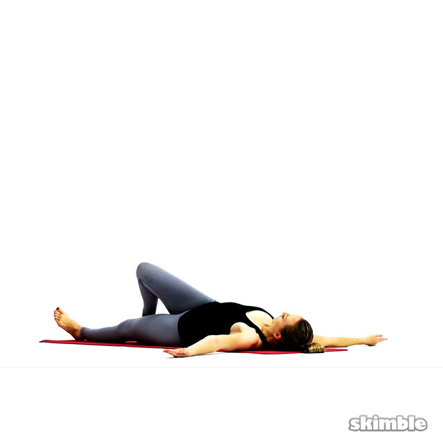 How to do: Lying Spinal Twist - Step 3