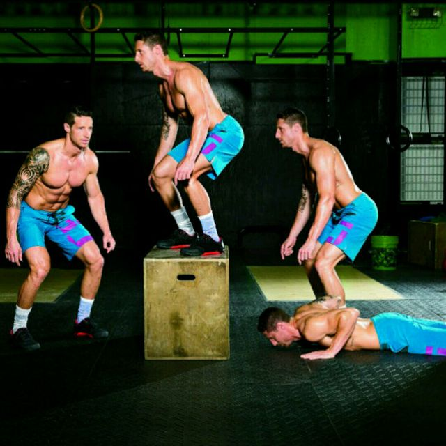 How to do: Burpee Jump Overs - Step 1