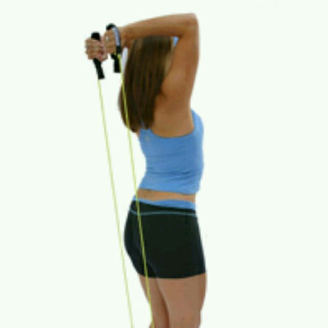 How to do: Overhead Triceps Extension With Band - Step 1