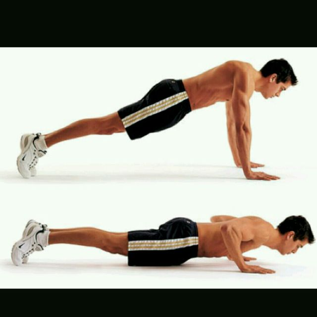 How to do: Plank Pushup - Step 2